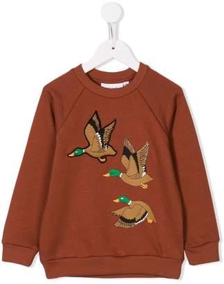 Mini Rodini wild duck-print sweatshirt