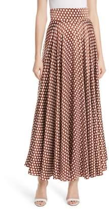 Diane von Furstenberg High Waist Dot Maxi Skirt
