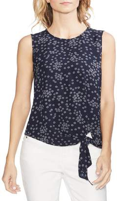 Vince Camuto Ditsy Showers Tie Front Blouse