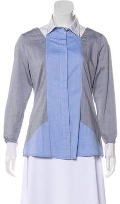 Jonathan Simkhai Accented Button-Up Blouse