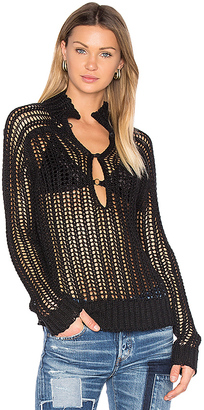 Inhabit Milano Sweater in Black $385 thestylecure.com