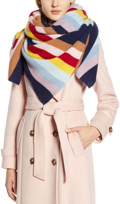 Halogen x Atlantic-Pacific Stripe Cashmere Blanket Scarf