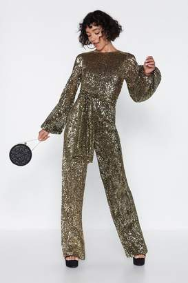 Nasty Gal Disco with It Sequin Jumpsuit