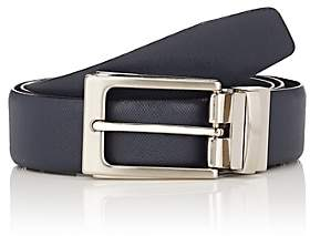 Barneys New York Men's Reversible Saffiano Leather Belt - Navy