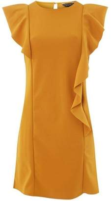 Dorothy Perkins Womens **Yellow Ruffle Shift Dress