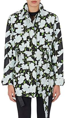 Off-White Women's Floral Cotton Belted Field Jacket
