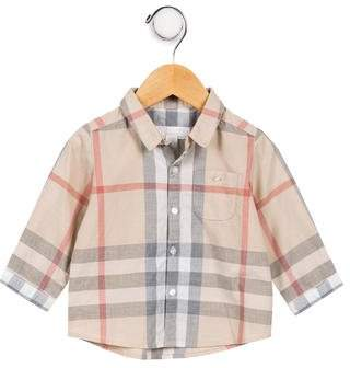 Burberry Boys' Exploded Check Button-Up Shirt