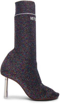 Vetements Lurex Sock Ankle Boots
