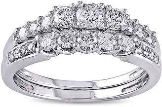 JCPenney MODERN BRIDE 4/5 CT. T.W. Diamond 14K White Gold Bridal Ring Set