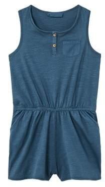 MANGO Cotton short jumpsuit