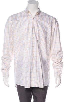 Luciano Barbera Check Pattern Button-Up Shirt