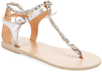 Ancient Greek Sandals Chrysso Beaded Thong Sandal