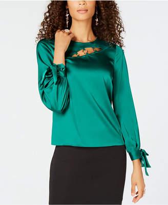 Thalia Sodi Cutout Tie-Sleeve Top