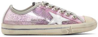 Golden Goose Pink V-Star 2 Sneakers