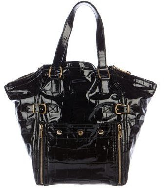 Saint LaurentYves Saint Laurent Embossed Patent Leather Downtown Bag