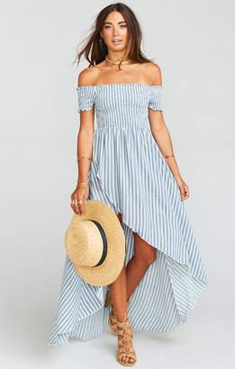 Show Me Your Mumu Willa Maxi Dress ~ She Sails Stripe Flux