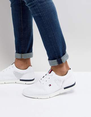 Tommy Hilfiger Tobias Flag Mesh Sneakers in White
