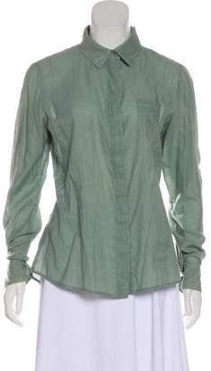 Fendi Long Sleeve Button-Up Top