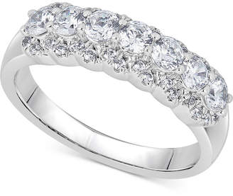 Macy's Diamond Two-Level Ring (1 ct. t.w.) in 14k White Gold