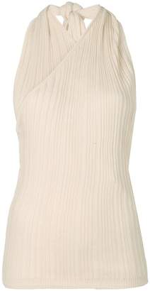 Jacquemus pleated fitted vest top