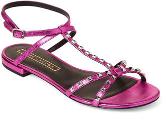 Marc Jacobs Fuchsia Ana Studded Flat Sandals