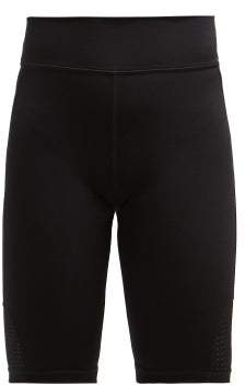 The Upside Panelled Matte Stretch Jersey Cycling Shorts - Womens - Black