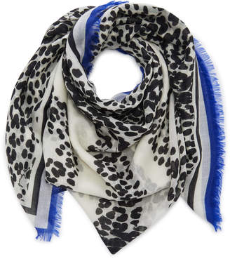Givenchy Fringed Leopard-Print Cashmere Scarf