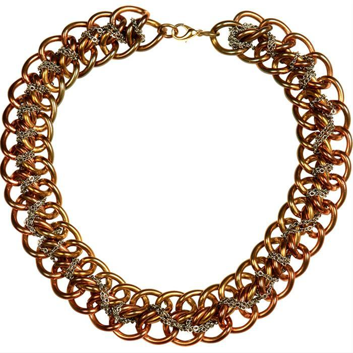 Chain Laced Necklace by Nicole Romano