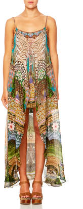 Camilla A Woman's Wisdom Printed Dress w/ Long Overlay