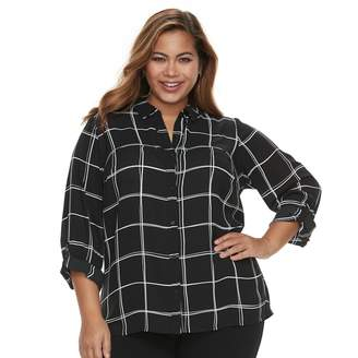 Apt. 9 Plus Size Button Front Top