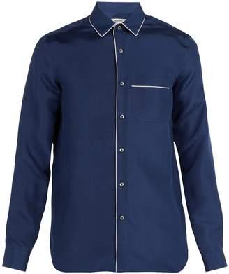 Valentino Pyjama-style silk-satin shirt