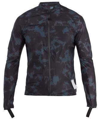 Satisfy - Tie Dye Print Running Jacket - Mens - Blue Multi
