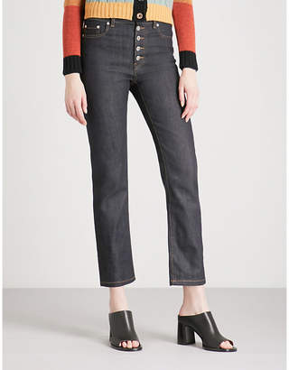 Joseph Slim-fit straight cropped high-rise jeans