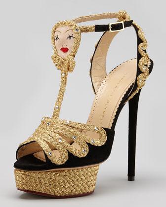 Charlotte Olympia Rapunzel Braided Platform Sandal