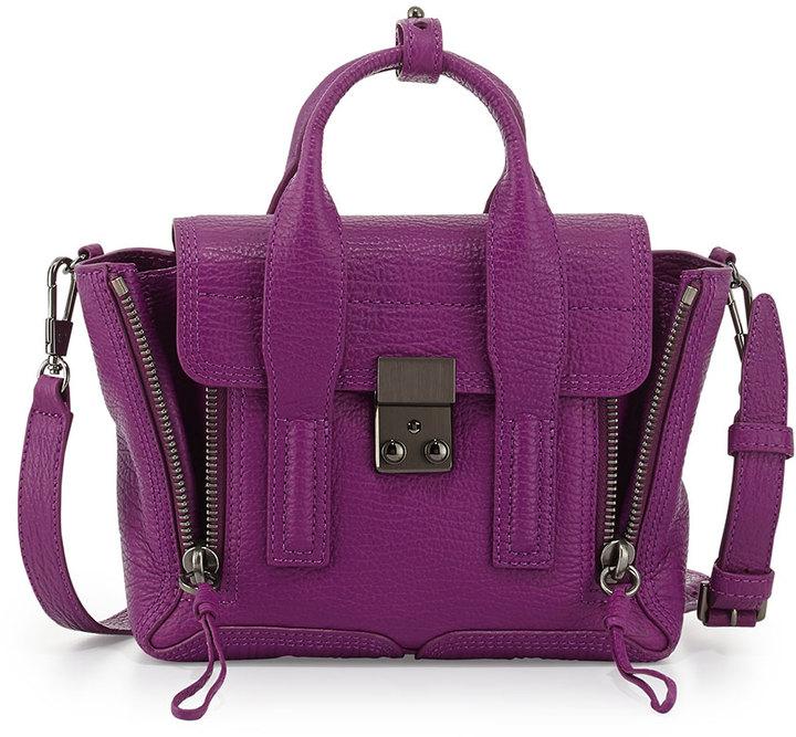 3.1 Phillip Lim Pashli Mini Leather Satchel Bag, Orchid