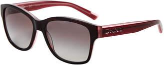DKNY DY4134 Black & Pink Rectangular Sunglasses