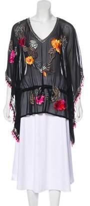 Matthew Williamson Silk Embroidered Tunic