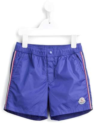 Moncler striped trim swim shorts