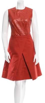 Kaufman Franco Kaufmanfranco Leather & Wool-Blend Dress