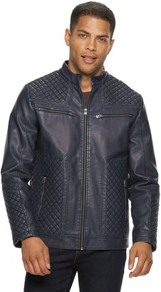 X-Ray Xray Men's XRAY Washed Faux-Leather Moto Jacket