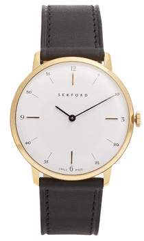 Sekford Watches - Type 1a Stainless Steel And Leather Watch - Mens - Black