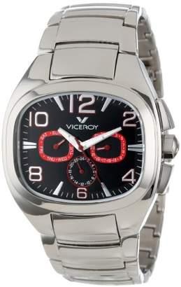DAY Birger et Mikkelsen Viceroy Men's 47709-75 Genesis Rectangular Stainless Steel Dual Time Date Watch