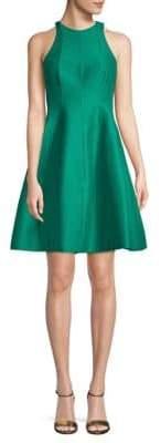 Halston Sleeveless Cotton & Silk Fit-&-Flare Dress
