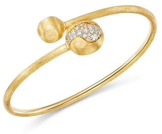 Marco Bicego 18K Yellow Gold Africa Pavé Diamond Boules Bangle