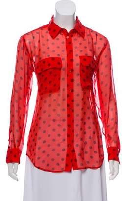 Equipment Silk Button Up Shirt