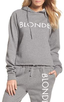 BRUNETTE the Label Blonde Raw Hem Hoodie