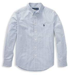 Ralph Lauren Little Boy's & Boy's Plaid Poplin Shirt