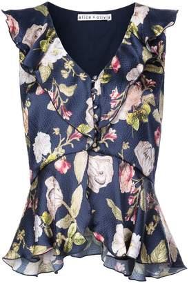 Alice + Olivia Alice+Olivia Nora floral print blouse