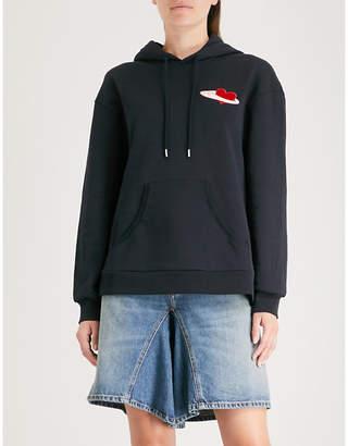 Markus Lupfer Velvet appliqué cotton-jersey hoody