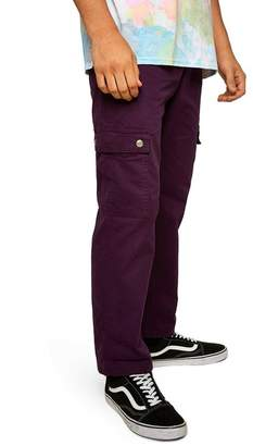 Topman Straight Fit Cargo Trousers